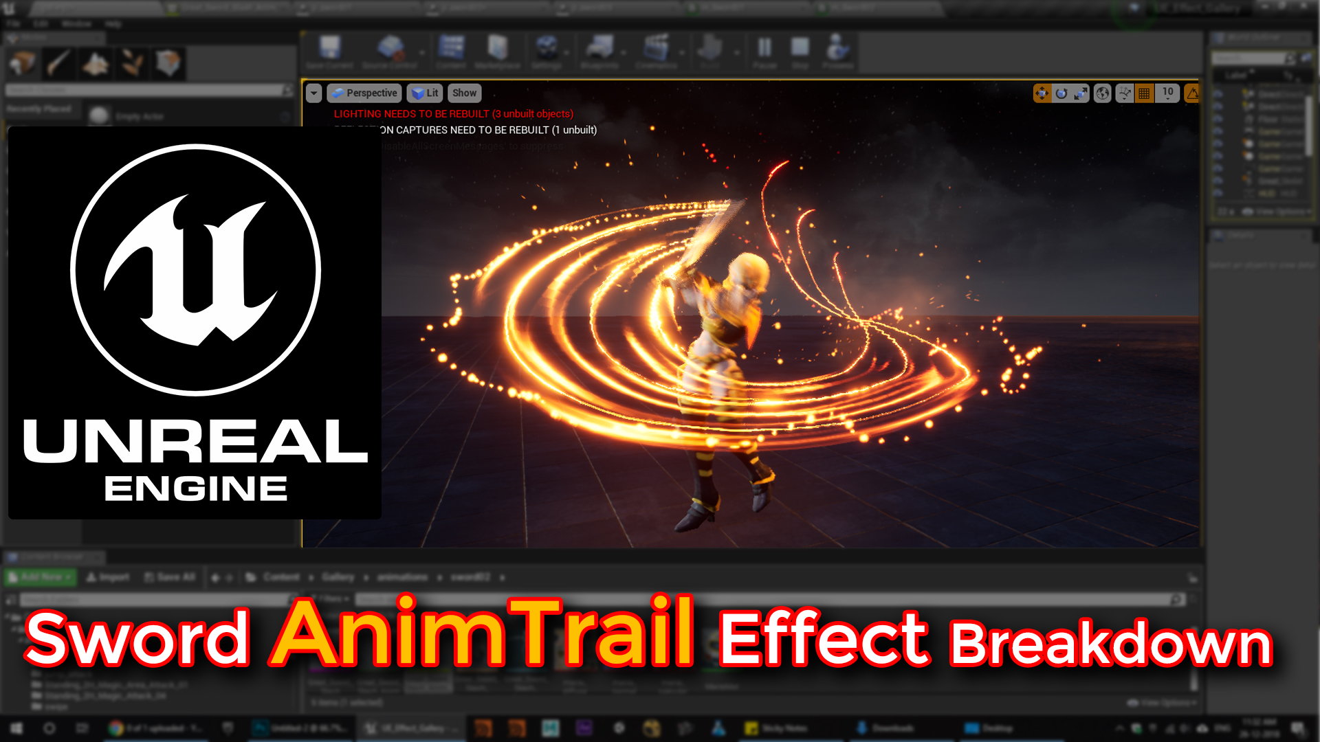 Unreal Engine | Sword AnimTrail Effect Breakdown | CGHOW