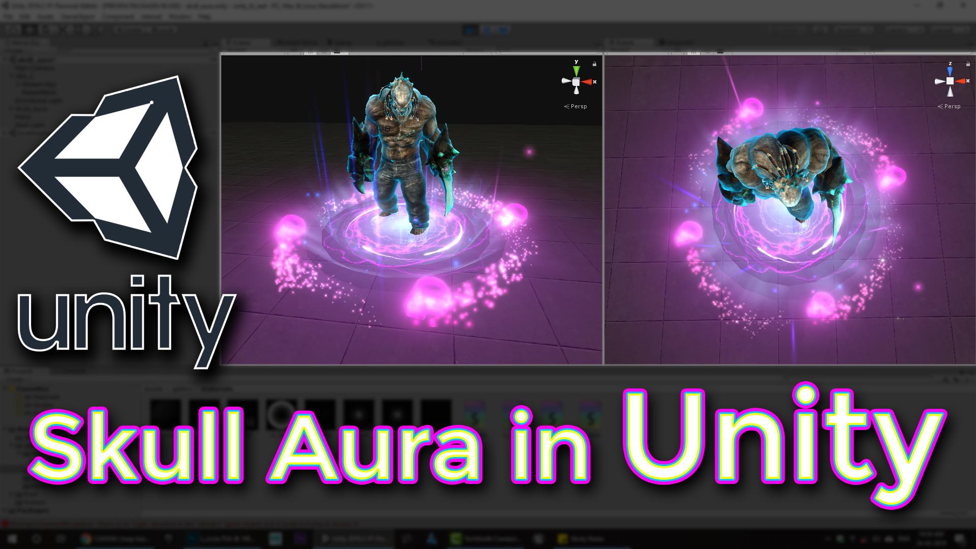 Unity Skull Aura Effect Tutorial | CGHOW